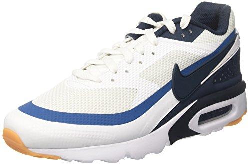 Nike Air MAX BW Ultra, Entrenadores para Hombre, Blanco (White/Armory Navy/Industrial Blue), 41 EU