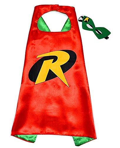 Disfraz de Super hero robin de lot - disfraz - carnaval - halloween - hombre murciélago - color rojo - máscara - capa - niño - 3/6 años - idea de regalo para cumpleaños