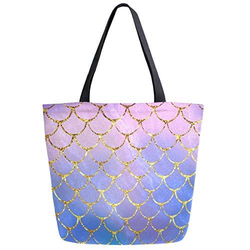 Meerjungfrau Waage Frauen Mode Casual Canvas Tote Bag Shopping Handtasche Shopping Bag
