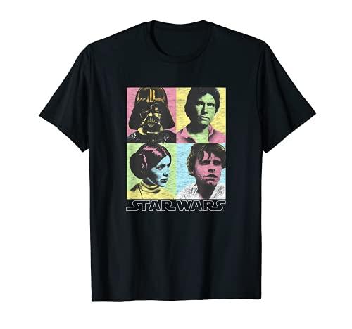 Star Wars Original Cast Pop Color Four Box Photographs T-Shirt