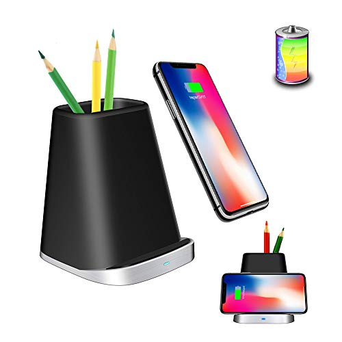 QI Fast Wireless Charger Stand 10W Wireless Charging pad Charging Stand Charging Station qi Fast Charger Type c Wireless Phone Charger Holder penpot Organizer Galaxy S8 Plus S9 S7 NOTE8 max xr(P8)