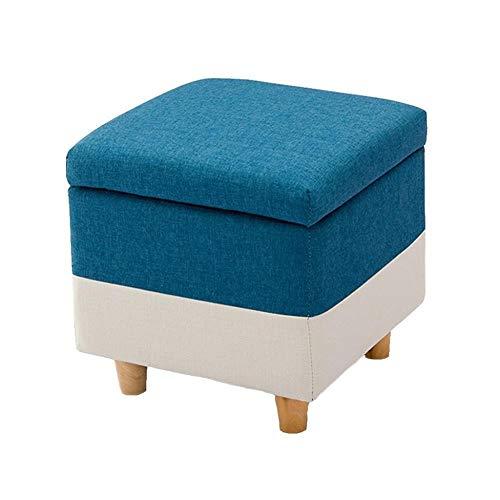Mscxj Fußbänke Aufbewahrungsbank Kommode Massivholz Rast Hocker Polster Ottoman Praktische Versatile CubesMax Last 300 Kg Wohnzimmer Schlafzimmer (Size : 40cmx40cmx42cm)