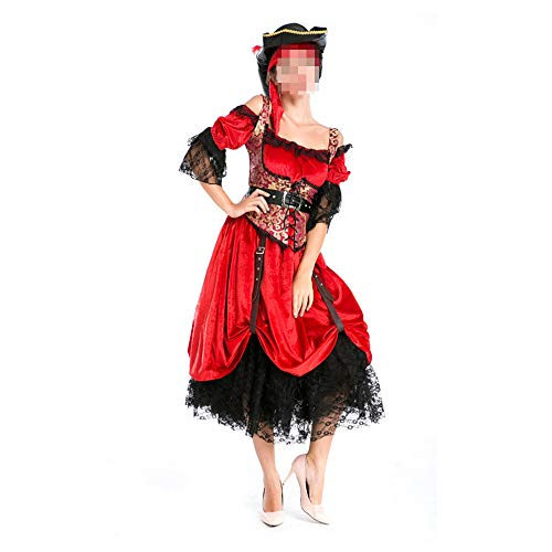 Disfraz Halloween, Carnaval Disfraz Cosplay para Disfraz Halloween Cosplay,Disfraz De Pirata Femenino Disfraz De Amazona Disfraz De Reina Disfraz De Halloween
