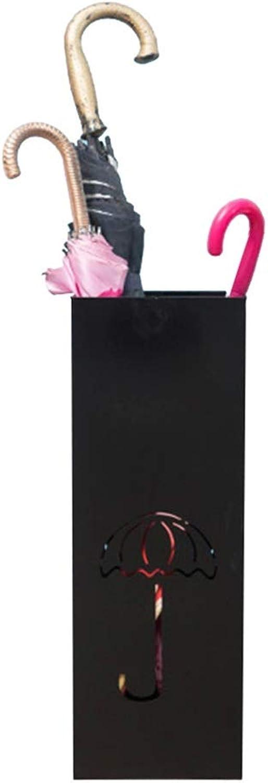 MYQ Umbrella Stand, Iron Umbrella Stand Hotel Lobby Home Umbrella Bucket Storage Bucket Floor Umbrella Storage Rack Umbrella Stand (color   Black)