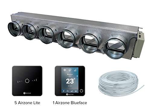 Airzone AM6DAI11M6WB Pack Easyzone 6 Zonas Radio Color Negro para Daikin FWN