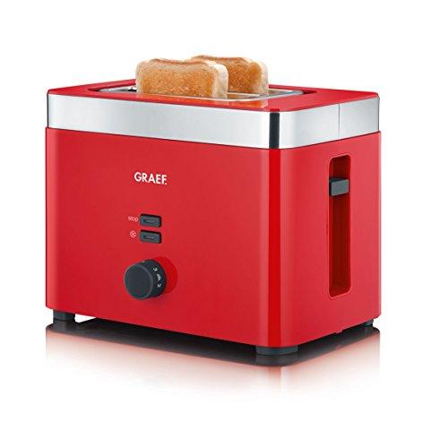 Graef TO63EU TO 63 2-Scheiben Toaster, Kunststoff, Rot