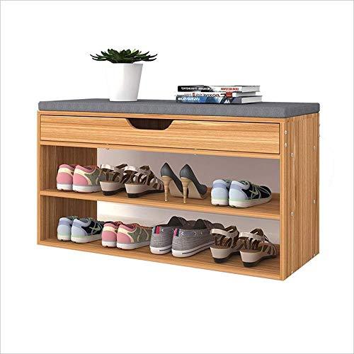 ZUQIEE Zapatero para pasillo, zapatero, zapatero, zapatero, zapatero, mueble de madera, organizador de zapatos, pasillo, banco de almacenamiento, 80 x 30 x 41,2 cm
