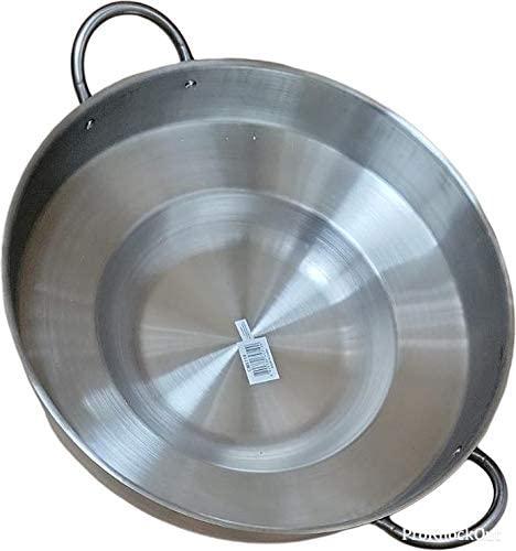 """discount Large Mexican Style Wok Comal Cazo Griddle outlet sale Fryer Chicharron Deep popular Fry Pan Stainless Steel For Carnitas Panza Abajo 23"""" Paella online sale"""