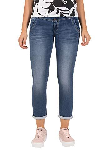 Timezone Slim Nalitz Jeans, Blu (Blue Denim Wash 3041), 25W Donna