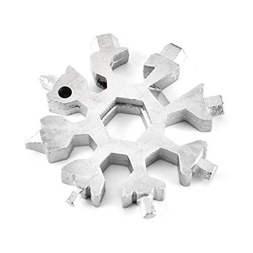 Sunlera Combinación Card 18-en-1 Multi-herramienta portátil y compacta del copo de nieve al aire libre Senderismo herramienta que acampa Tarjeta de herramientas