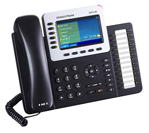 Grandstream GXP2160 IP Phone - Wired/Wireless - Bluetooth - Desktop, Wall Mountable