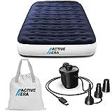 Active Era Cama de Aire para Acampar Individual con Bomba Recargable USB - con Almohada...