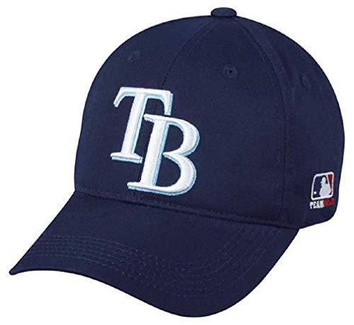 Tampa Bay Rays MLB OC Sports Navy Blue Hat Cap TB Logo Adult Men's Adjustable