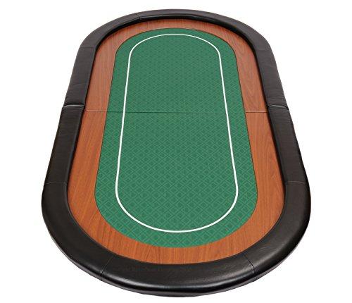 Riverboat Gaming Champion faltbare Pokerauflage mit grünem wasserabweisenden Stoff und Tasche – Pokertisch 180cm - 2