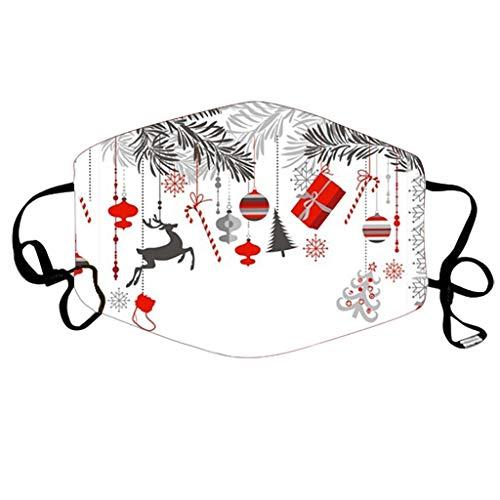 NN/A Weihnachten Erwachsene Weihnachts Mund und Nasenschutz mit Motiv