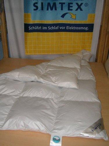 Simtex Daunendecke 135/200 gegen Elektrosmog und Erdstrahlen