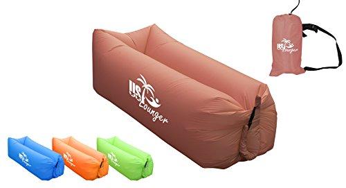 US Lounger Mahagoni schnell aufblasbar tragbar Outdoor oder Indoor Wind Bett Liege Air Bag Sofa Sofa Couch, Lazy Bed für Camping, Strand, Park, Garten