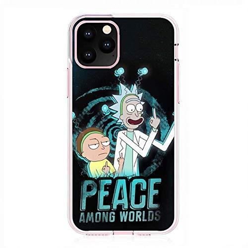 Transparent Case for Apple iPhone 11 PRO, Rick-Morty Cartoon Art 6 Fundas Slim Silicone Liquid Flexible Cover