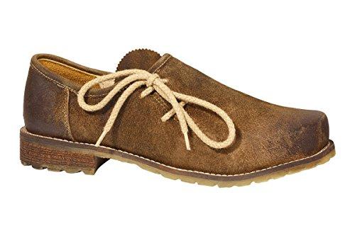 MADDOX Trachten Herren Schuh - MAXIMILIAN - dunkelbraun, Größe 40