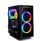 CLX Set Gaming Desktop, AMD Ryzen 7 3800X 3.9GHz 8-Core, Wraith Prsim, B450 MATX, 16GB DDR4 RGB, GeForce RTX 2070 Super 8GB, 240GB SSD + 2TB HDD, WiFi, Black Mini-Tower RGB Fans, Windows 10 Home