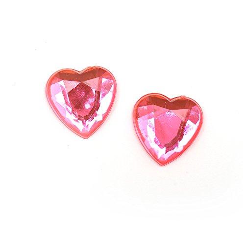 Orecchini luminosi Idin - Rosa a forma di cuore (ca smussata. 14 x 14 mm)
