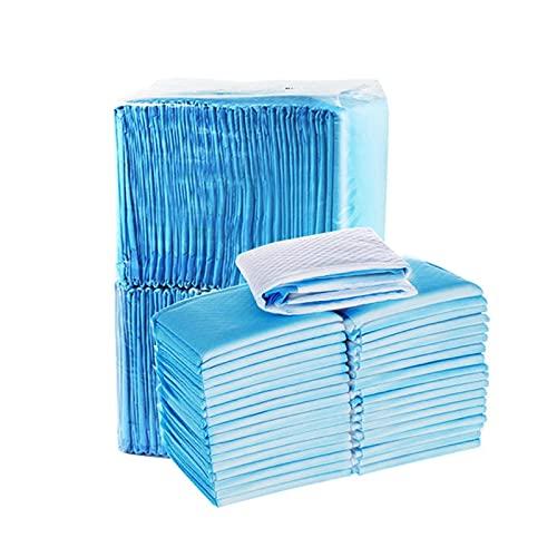 FENGNANMY Pet Pee Pad Dog Soakers Couches jetables Super Absorbant Chats de Chiot ChiPy Dog Tampons Tapis Dog Dog Pee Pad sous-Pages pour Chiens (Color : Blue, Size : 50pcs 45x60cm)