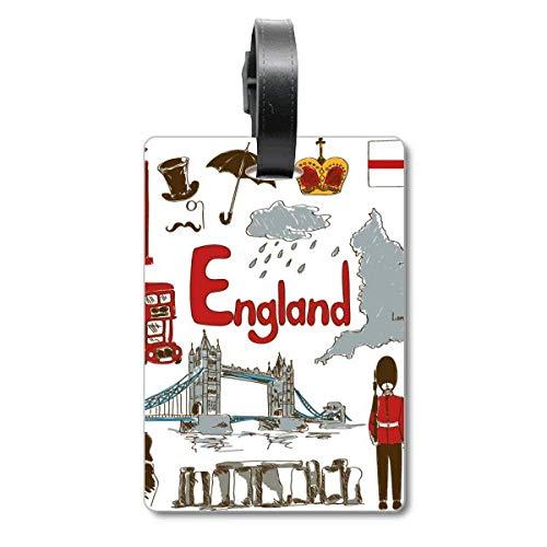 Etiqueta de identificación para Maleta con diseño de Bandera Nacional de Inglaterra