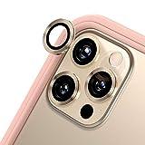 RhinoShield iPhone 12 Pro カメラレンズプロテクター[3個入り]   9H 強化ガラス 高い透明度 傷を防ぐ - ゴールド