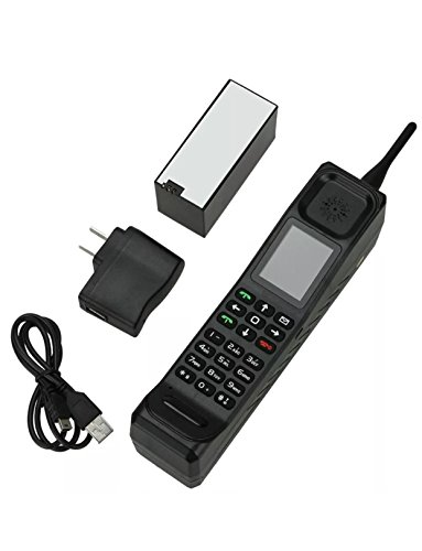 Higoo New Classic Old Vintage Retro Brick Cell Phone Mobile Phone Tri-Band Dual SIM Dual Standby GSM900/1800/1900MHz Black