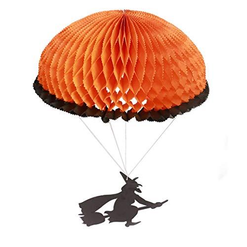 AstriuK Lustiger Geist Halloween Papier Fallschirm Skelett Geist Laterne Ornament Hängende Dekoration für Party Bar KTV
