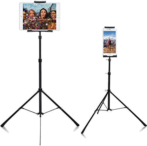 Tablet Smartphone Ständer, Verstellbare Tablet Stativ mit 360 Grad Drehung Handy Halterung, Universal für Smartphone und alle 4 bis 12 zoll Tablets