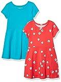 Amazon Essentials 2-Pack Girls Short-Sleeve Skater Dress Playwear, Marguerite, 4 Ans