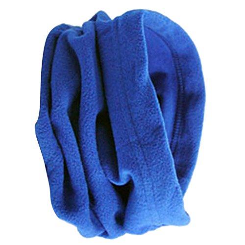 防風 暖かい メンズ フリース ネックウォーマー 快適 スカーフ マフラー スキー バイク マスク 全12色 - ロイヤルブルー
