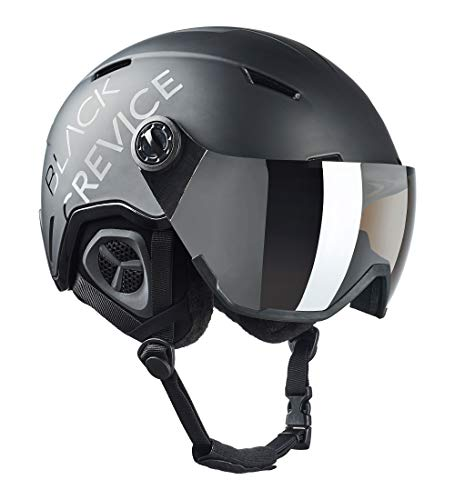 Black Crevice Casco de esquí Unisex para Adultos Vail con Visera, Color...