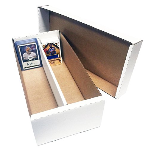 (4) Shoe 2 Row Storage Box (1600 Ct.) - Corrugated Cardboard Storage Box - Baseball, Football, Basketball, Hockey, Nascar, Sportscards, Gaming & Trading Cards Collecting Supplies by MAX PRO