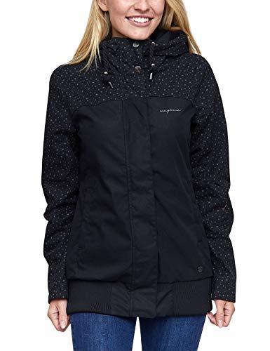 mazine - Damen - Jacke 'Chelsey Jacket' - Urban Streetwear Sommer Frühling - Black/Drops - S