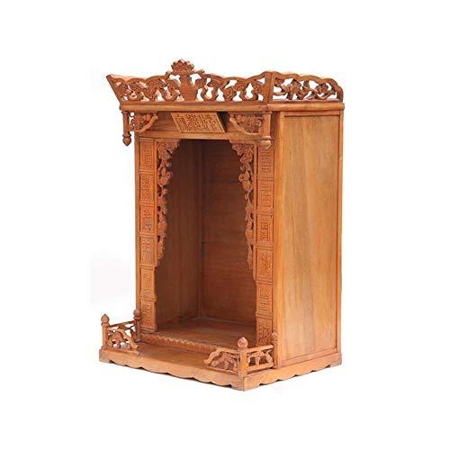 DYYD Buddha-Altar Kabinett Massivholz buddhistischen Altar Startseite Enshrined Schrein Geschnitzte hängend Schrank Rack, Geeignet for Place Your Spiritual Dekoration
