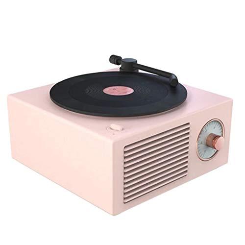 Nangjiang Plattenspieler Vinyl Plattenspieler mit Bluetooth-Lautsprecher, rotierender Schallplattenspieler, Stressabbau, kabellos, unterstützt AUX, TF, USB