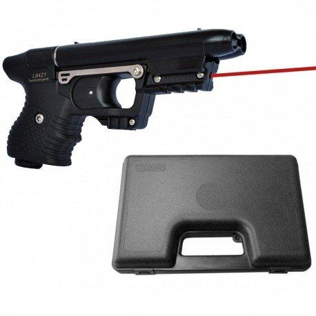 JPX Defender laser Jet, colore: nero, con valigetta