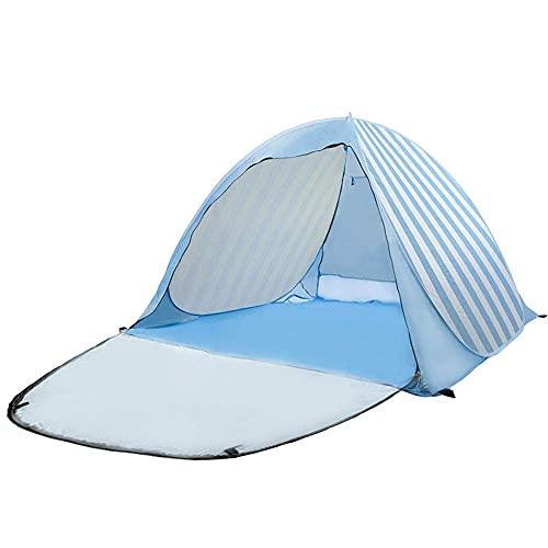Carpa emergente, Carpa de Playa Ligera portátil, Refugio Solar para 2-3 Personas, Bolsa de Transporte, Clavijas para Carpa, protección UV para la Familia, jardín, Camping