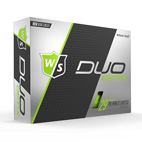 Wilson Staff DUO Optix Golf Ball, Soft, Green