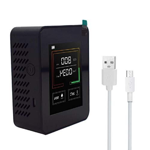 ZOUD CO2-Konzentrationsmessgerät Kohlendioxid CO2 Detektor Luftqualität Monitor TVOC Temperatur Luftfeuchtigkeit Tester Hohe Präzision
