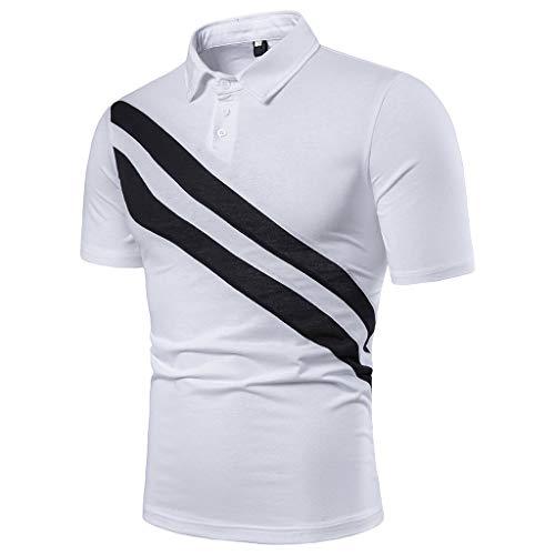 Camiseta para Hombre,Verano Polo Patchwork Camiseta Deporte Manga Corta Moda Diario Slim Fit Casuales T-Shirt Blusas Originales Camisas algodón Suave básica vpass