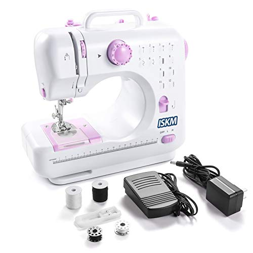 Sewing Machine 12 Stitches 2 Speed LED Light Foot...