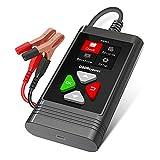 OB D RESOURCE Tester per batteria da 6 V/12 V, 100 – 2000 CCA 2 Ah 220 Ah, tester per batteria auto, tester per batteria, analizzatore per moto, auto, tosaerba, carrelli da golf e barche