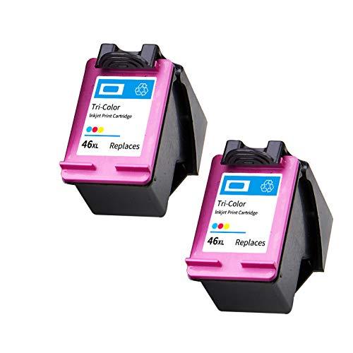 Reemplazo de cartuchos de tinta remanufacturados Adecuado para HP46XL, para HP DeskJet Ink Advantage 2020HC 2029 2520HC 2529 ULTRA 4729 Impresora 2*color