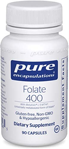 Pure Encapsulations Folate 400 | Metafolin L-5-MTHF Supplement to Support Cardiovascular, Cellular, and Neural Health* | 90 Capsules