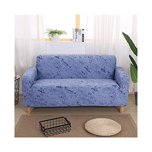 ASVNDD Moderne Farb Stuhl Sofas Abdeckung SEV for Wohnzimmer Elastic L-Form Sofa-Abdeckung Strech 1/2 / 04.03 Seaters Verstellbare Couch Covers (Color : Blue, Specification : 90 140cm)
