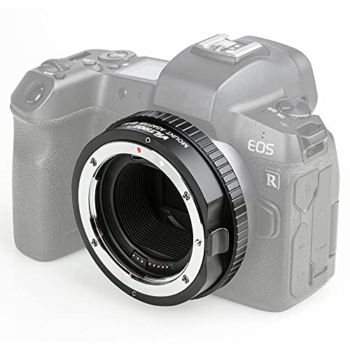 Viltrox EF-R2 Adapter Autofokus Objektivadapter mit Steuerungsring Kontrollring Blende ISO Konverter Bajonettadapter kompatibel mit Canon EF/EF-S Objektive auf Canon EOS R/RP/R5/R6 Kamera