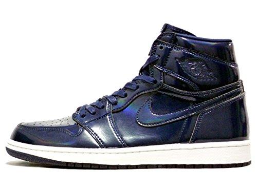 Nike Herren Air Jordan 1 Retro High OG DSM Fitnessschuhe, Blau Weiß Obsidian White Summit White, 44 EU
